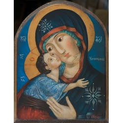 Богородица Умиление, 20x15см. - икона от ЮЛИЯ