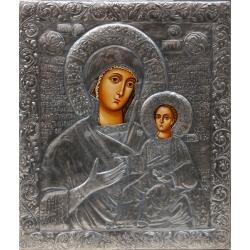 Св. Богородица Одигитрия (Несебър) - посребрен обков от МИХАЛЕВ