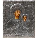 Св. Богородица Одигитрия (Несебърска) - посребрен обков от МИХАЛЕВ