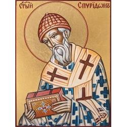 Св. Спиридон - рисувана икона