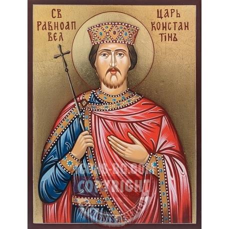 Иконата на Св. Константин в по-малък формат- 20/15 см.