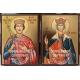 Иконата в комбинация с икона на Света Елена - 20/15 см.